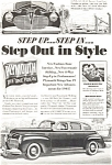 Click here to enlarge image and see more about item ad0076: Plymouth  Step Out in Style Ad