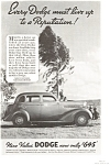 Click here to enlarge image and see more about item ad0099: 1935 Dodge  Ad
