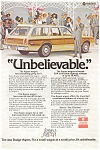 Click here to enlarge image and see more about item ad0101: Dodge Ad For the Aspen Wagon 1970s ad0101