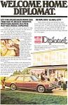 Click here to enlarge image and see more about item ad0107: Dodge Diplomat Wagon Advertisement