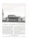 Click here to enlarge image and see more about item ad0110: Lincoln V-8 Five Passenger Coupe Advertisement 1932
