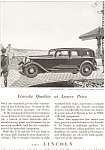 Lincoln V-8 Seven Passenger Sedan Advertisement 1932