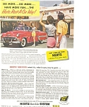 Click here to enlarge image and see more about item ad0116: Hertz  Chevrolet Convertible Ad