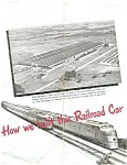 Click here to enlarge image and see more about item ad0127: Budd Company Streamliner Railroad Ad