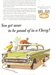 Click here to enlarge image and see more about item ad0155: 1957 Chevrolet Bel Air Sports Coupe Ad