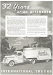 Click here to enlarge image and see more about item ad0160: 1938 International 3-4 Ton Truck Tractor Ad