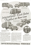 Click here to enlarge image and see more about item ad0161: 1937 International Full Line Truck Ad