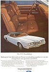 Click here to enlarge image and see more about item ad0172: 1972 Thunderbird Ad