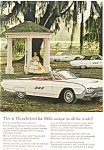 Click here to enlarge image and see more about item ad0178: 1963 Thunderbird  Full Line Ad