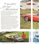 Click to view larger image of 1962 Thunderbird  Full Line Ad ad0179 (Image1)