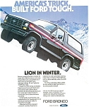Click here to enlarge image and see more about item ad0184: 1982 Ford Bronco Ad ad0184