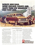 Click here to enlarge image and see more about item ad0187: 1982 Dodge Mini Ram Wagon Ad ad0187