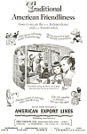 Click here to enlarge image and see more about item ad0189: American Export Lines Ad