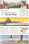 Click here to enlarge image and see more about item ad0191: Canadian Pacific Rail,Ship, Air Ad