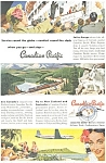 Click here to enlarge image and see more about item ad0192: Canadian Pacific Ship, Rail, Air Ad