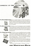 Click here to enlarge image and see more about item ad0194: Milwaukee Road Post WWII Ad