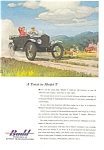 Click here to enlarge image and see more about item ad0206: 1953 Budd Ford Model T Ad ad0206