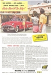 Click here to enlarge image and see more about item ad0207: 1953 Hertz Chevrolet Bel Air Convertible Ad ad0207