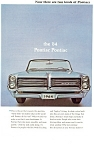 Click here to enlarge image and see more about item ad0210: 1964 Pontiac Convertible  Ad ad0210