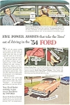 Click here to enlarge image and see more about item ad0213: 1954 Ford Ad