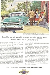 Click here to enlarge image and see more about item ad0215: 1954 Chevrolet Bel Air 4 Door Sedan Ad ad0215