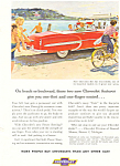 Click here to enlarge image and see more about item ad0222: 1953 Chevrolet Bel Air Convertibles Ad ad0222