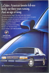 Click here to enlarge image and see more about item ad0229: 1995 Buick LeSabre Ad