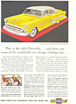 Click here to enlarge image and see more about item ad0230: 1953 Chevrolet  Bel Air 4 Door Sedan Ad ad0230