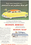 Click here to enlarge image and see more about item ad0237: 1952 Hudson Hornet and Hudson Wasp Ad ad0237