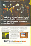 Click here to enlarge image and see more about item ad0244: Zenith Superchromacolor TV Ad