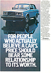 Click here to enlarge image and see more about item ad0256: Volvo Ad 1981