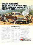 Click here to enlarge image and see more about item ad0257: Dodge Mini Ram Ad ad0257 1981
