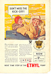 Click here to enlarge image and see more about item ad0259: Ethyl Gasoline Vintage Ad ad0259