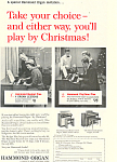 Click here to enlarge image and see more about item ad0266: Hammond Organ Play by Christmas Ad