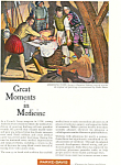 Click here to enlarge image and see more about item ad0267: Parke Davis Great Moments in Medicine Ad ad0267