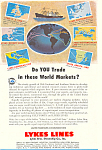 Lykes Lines World Markets Ad