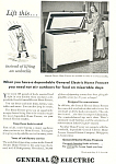 Click here to enlarge image and see more about item ad0289: General Electric Home Freezer  Ad