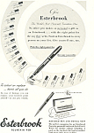 Click here to enlarge image and see more about item ad0297: Esterbrook Fountain Pen Ad