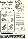 Click here to enlarge image and see more about item ad0301: Bell and Howell Filmo Cameras Ad ad0301