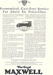 Click here to enlarge image and see more about item ad0315: Maxwell Car Ad Jul 1924