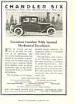 Click here to enlarge image and see more about item ad0317: Chandler Six Car Ad Mar 1921