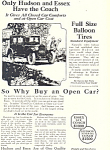 Click here to enlarge image and see more about item ad0318: Hudson Essex Car Ad Sep1924 ad0318