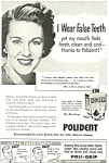 Click here to enlarge image and see more about item ad0335: Polident Ad