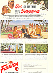 Click here to enlarge image and see more about item ad0338: Florida Chistmas Sunshine Ad