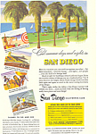 Click here to enlarge image and see more about item ad0342: San Diego California Tourism Ad ad0342