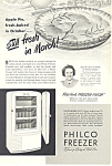 Click here to enlarge image and see more about item ad0344: Philco Freezer  Ad