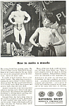 Click here to enlarge image and see more about item ad0348: National Dairy Products Muscle Ad