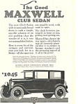 Click here to enlarge image and see more about item ad0354: Maxwell Club Sedan Car Ad ad0354