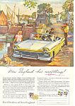 Click here to enlarge image and see more about item ad0360: Ford Convertible !957 Ad