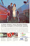 Click here to enlarge image and see more about item ad0363: Ford Quality Built Cars 1963 Ad ad0363